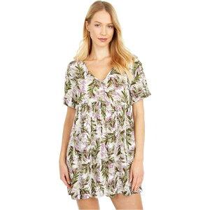 ボボウ Bobeau レディース ワンピース ベビードール ワンピース・ドレス【Short Sleeve Babydoll Boxy Dress】Tropical Stripe