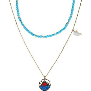 レベッカ ミンコフ Rebecca Minkoff レディース ネックレス チャーム ジュエリー・アクセサリー【Horizon Charm Layered Necklace】Gold