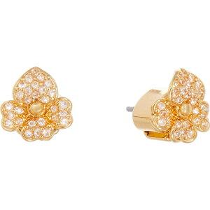 ケイト スペード Kate Spade New York レディース イヤリング・ピアス スタッドピアス ジュエリー・アクセサリー【Precious Pansy Pave Stud Earrings】Clear/Gold