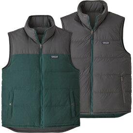 パタゴニア Patagonia メンズ スキー・スノーボード ダウンベスト ダウン・中綿 ベスト・ジレ トップス【reversible bivy down vest】Piki Green