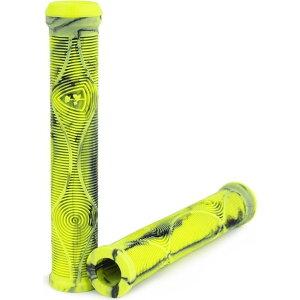 サブロサ Subrosa メンズ 自転車 グリップ【genetic dcr flangeless bmx grips】Highlighter Yellow/Black Swirl