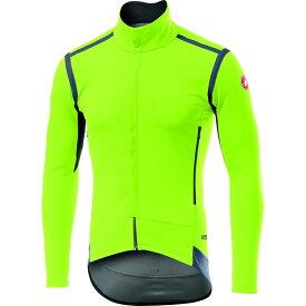 カステリ Castelli メンズ 自転車 ジャケット アウター【perfetto ros long sleeve bike jacket】Yellow Fluo
