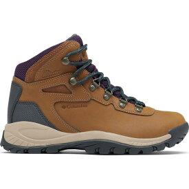 コロンビア Columbia レディース ハイキング・登山 ブーツ シューズ・靴【Newton Ridge Plus Hiking Boots】Light Brown/Cyber Purple