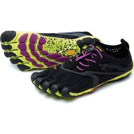 ビブラム Vibram レディース ランニング・ウォーキング ファイブフィンガーズ シューズ・靴【FiveFingers V-Run Trail Running Shoes】Black/Yellow/Purple