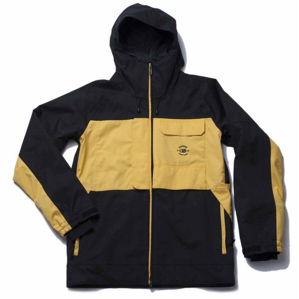 ボンファイヤー メンズ スキー・スノーボード アウター【Eager Snowboard Jacket】Black/ Gold Spark