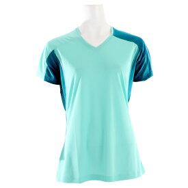 サロモン レディース トップス Tシャツ【Trial IV T-Shirt】Celadon/ Dark Bay Blue