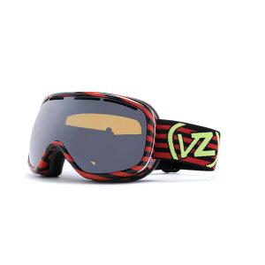 ボンジッパー レディース スキー・スノーボード ゴーグル【Chakra Goggles】Stripezilla Red