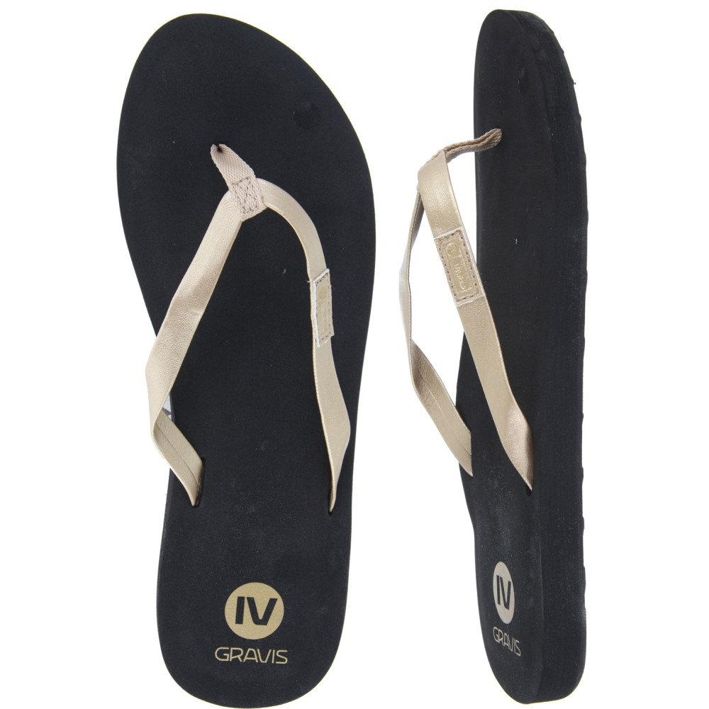 グラビス レディース シューズ・靴 サンダル・ミュール【Spritzer Sandals】Black/ Gold