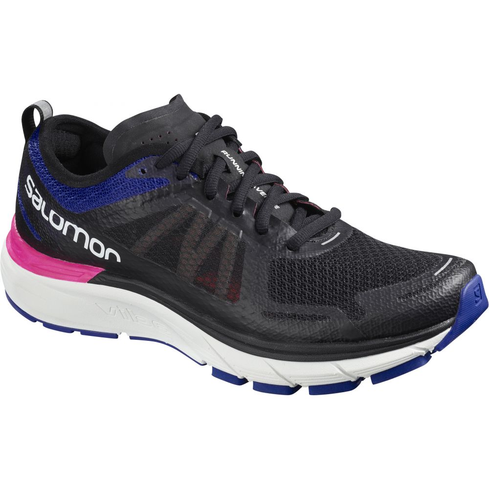 サロモン Salomon レディース ランニング・ウォーキング シューズ・靴【Sonic RA Max Running Shoes】Black/Surf The Web/Pink Glo