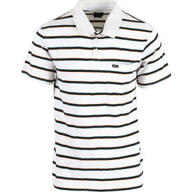 ルーカ RVCA メンズ トップス ポロシャツ【Desmond Stripe Polo】Antique White