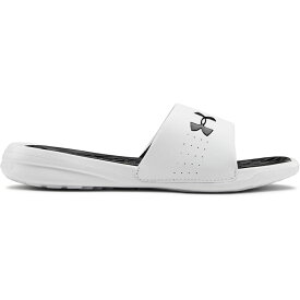 アンダーアーマー Under Armour レディース サンダル・ミュール シューズ・靴【Playmaker Fix SL Sandals】White/Black
