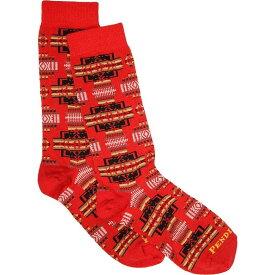 ペンドルトン Pendleton レディース ソックス インナー・下着【Chief Joseph Crew Socks】Red