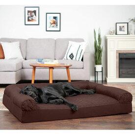 FurHaven ファーヘイヴン ペットグッズ 犬用品 ベッド・マット・カバー ベッド【Quilted Full Support Orthopedic Sofa Dog & Cat Bed】Coffee