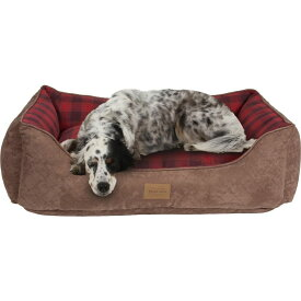 Pendleton ペンドルトン ペットグッズ 犬用品 ベッド・マット・カバー ベッド【Red Ombre Kuddler Bolster Dog Bed w/Removable Cover】