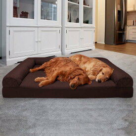 FurHaven ファーヘイヴン ペットグッズ 犬用品 ベッド・マット・カバー ベッド【Quilted Orthopedic Sofa Cat & Dog Bed w/ Removable Cover】Coffee