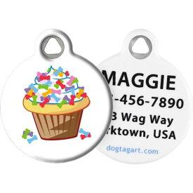 Dog Tag Art ドッグタグアート ペットグッズ 犬用品【Bone Cupcake Personalized Dog & Cat ID Tag】