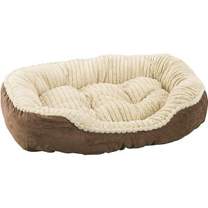 Ethical Pet エシカルペット ペットグッズ 犬用品 ベッド・マット・カバー ベッド【Sleep Zone Carved Plush Bolster Cat & Dog Bed】Chocolate