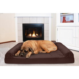 FurHaven ファーヘイヴン ペットグッズ 犬用品 ベッド・マット・カバー ベッド【Quilted Cooling Gel Bolster Cat & Dog Bed w/Removable Cover】Coffee