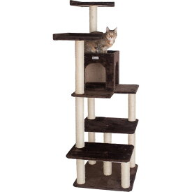 Armarkat アーマーカット ペットグッズ 猫用品【66-in GleePet Condo & Perch Cat Tree, Coffee Brown】