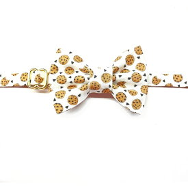 WHISKERS CRAFTS ウィスキークラフト ペットグッズ 猫用品 首輪・ハーネス・リード 首輪・カラー【Cookies + Milk Cat Collar and Bowtie Set (Madethe USA)】