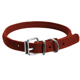 LOVETHYBEAST ペットグッズ 犬用品 首輪・ハーネス・リード 首輪・カラー【Rolled Leather Collar - Red】