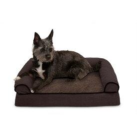 FurHaven ファーヘイヴン ペットグッズ 犬用品 ベッド・マット・カバー ベッド【Faux Fleece & Chenille Memory Foam Sofa Dog Bed】coffee