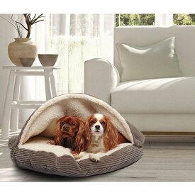 Precious Tails プレシャステイル ペットグッズ 犬用品 ベッド・マット・カバー ベッド【Cozy Corduroy Sherpa Lined Cave Dog Bed - Coffee】