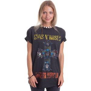 ガンズ アンド ローゼズ Guns N Roses レディース Tシャツ トップス【- Appetite For Destruction Charcoal - T-Shirt】grey