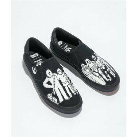 アディダス ADIDAS レディース スリッポン・フラット シューズ・靴【adidas x Star Wars Court Rally Black Slip-On Shoes】Black
