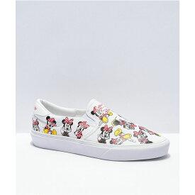 アディダス ADIDAS レディース スリッポン・フラット シューズ・靴【adidas x Disney Court Rally Minnie Mouse White Slip-On Shoes】White