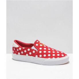 アディダス ADIDAS レディース スリッポン・フラット シューズ・靴【adidas x Disney Court Rallye Minnie Red Slip-On Shoes】Red