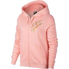 ナイキ Nike レディース トップス パーカー【Sportswear Metallic Full Zip Hoodie】Pink