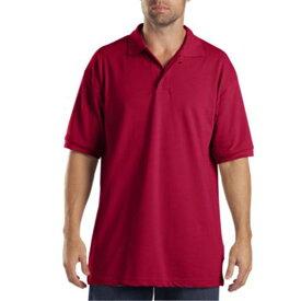 ディッキーズ Dickies メンズ トップス ポロシャツ【Adult Short Sleeve Pique Polo】Red