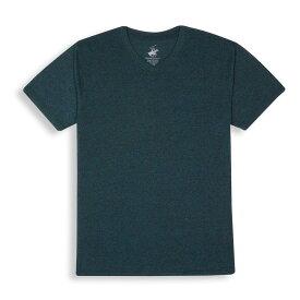 ビバリーヒルズポロ BHPC メンズ トップス Tシャツ【Marled V Neck Short Sleeve Shirt】Turquoise