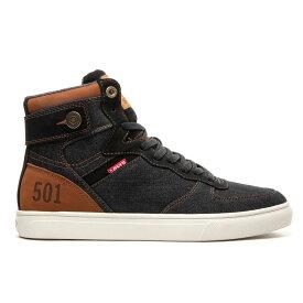 リーバイス Levis メンズ シューズ・靴 スニーカー【Jeffrey Hi 501 Casual Shoe】Black/Tan