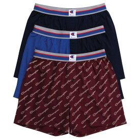チャンピオン Champion メンズ ボクサーパンツ 3点セット インナー・下着【3 Pack Knit Boxer】Navy/Royal