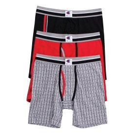 チャンピオン Champion メンズ ボクサーパンツ 3点セット インナー・下着【Everyday Comfort 3 Pack Boxer Briefs】Black/Red