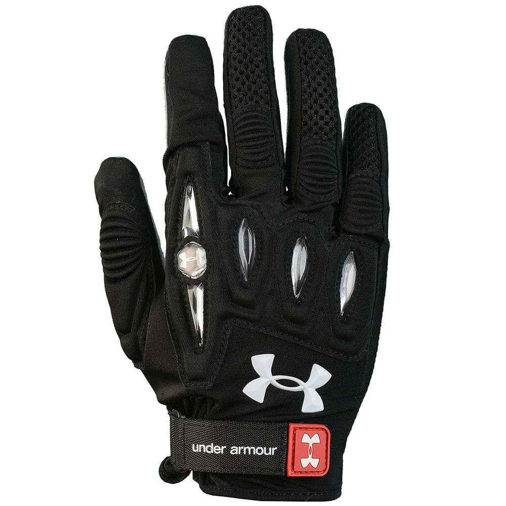 アンダーアーマー Under Armour レディース ラクロス グローブ【Player Lacrosse Gloves Size Large】Black