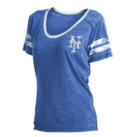 ニューエラ New Era レディース トップス Tシャツ【New York Mets Burnout T-Shirt】Royal