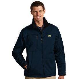 アンティグア Antigua メンズ アウター ジャケット【Georgia Tech YellowJackets Traverse Bonded Fleece Jacket】Navy