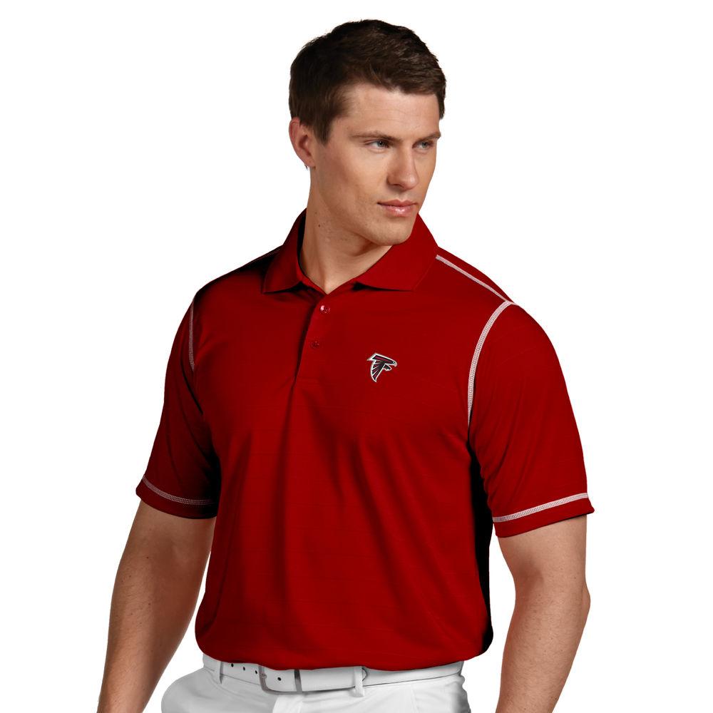 アンティグア Antigua メンズ トップス ポロシャツ【Atlanta Falcons Icon Stripe Short Sleeve Polo】Red/White
