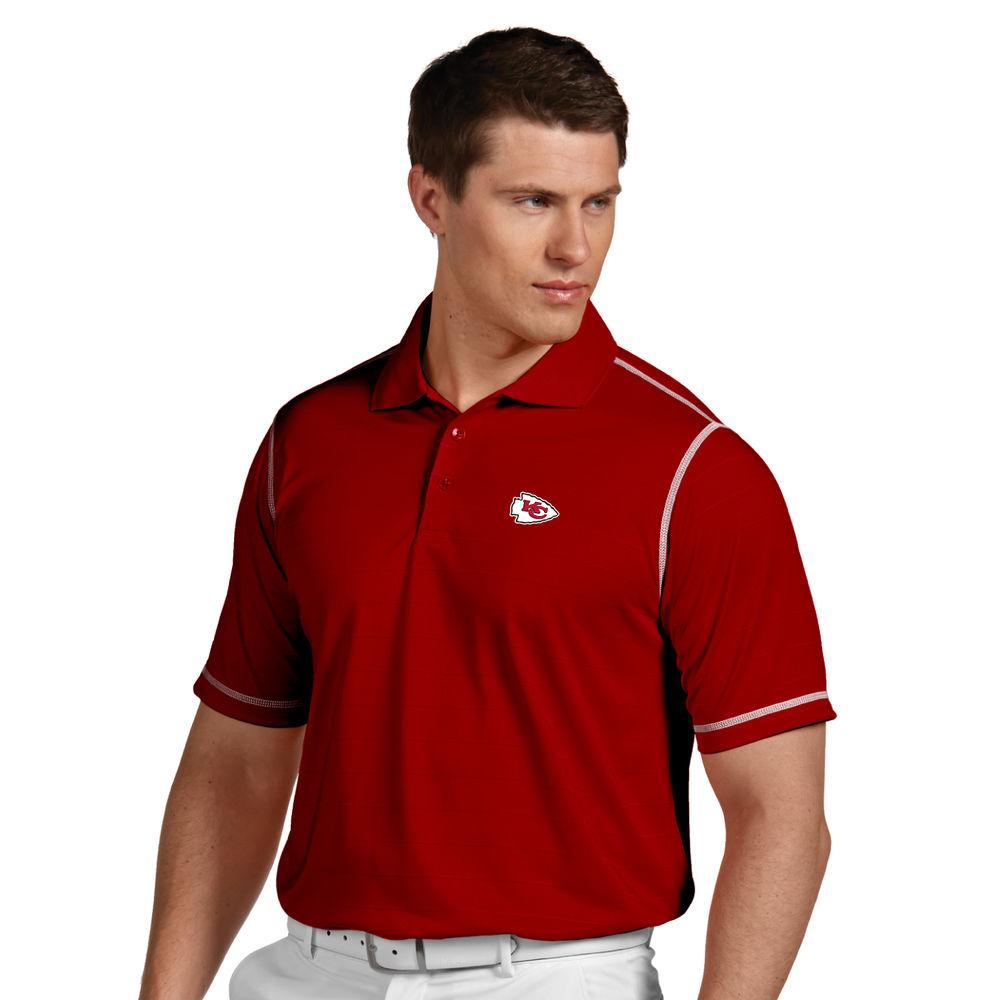 アンティグア Antigua メンズ トップス ポロシャツ【Kansas City Chiefs Icon Stripe Short Sleeve Polo】Red/White