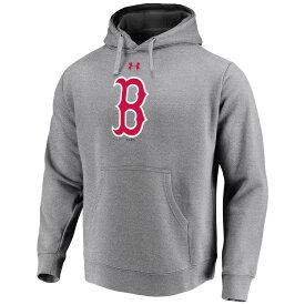 アンダーアーマー Under Armour メンズ トップス パーカー【Boston Red Sox Adult Logo Hoodie】Grey