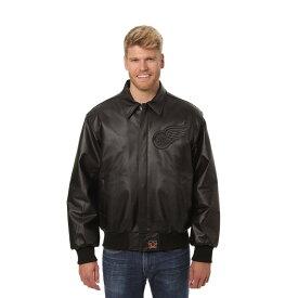 JH デザイン JH Design メンズ アウター レザージャケット【Detroit Red Wings Adult Leather Jacket】Black/Black