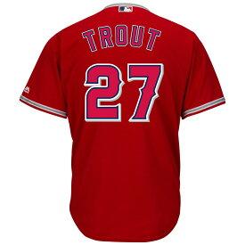マジェスティック Majestic メンズ トップス【Los Angeles Angels of Anaheim Mike Trout Adult Cool Base Replica Jersey】Scarlet