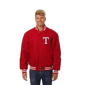 JH デザイン JH Design メンズ アウター ジャケット【Texas Rangers Adult Wool Jacket】Red