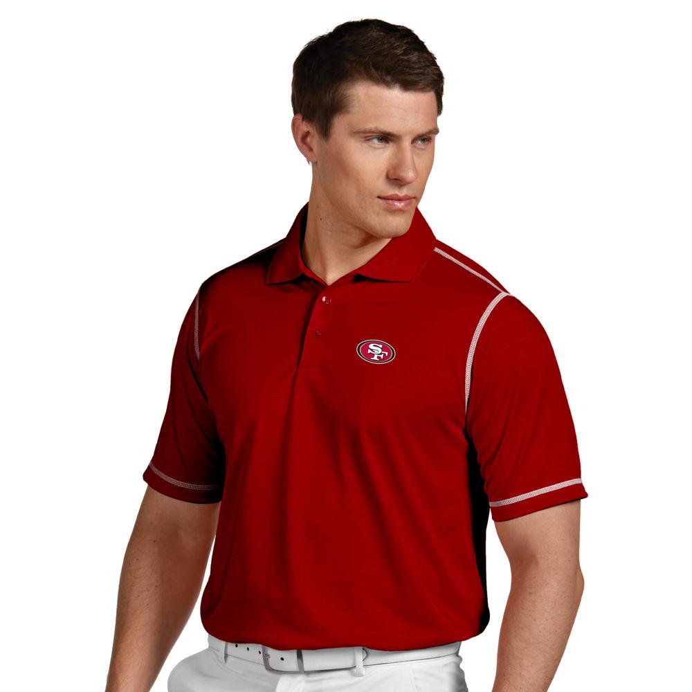 アンティグア Antigua メンズ トップス ポロシャツ【San Francisco 49ers Icon Stripe Short Sleeve Polo】Red/White