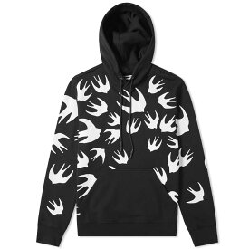 アレキサンダー マックイーン McQ Alexander McQueen メンズ パーカー トップス【large swallow print popover hoody】Darkest Black/White