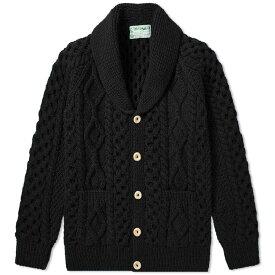 インバーアラン Inverallan メンズ カーディガン トップス【6a shawl cardigan】Black