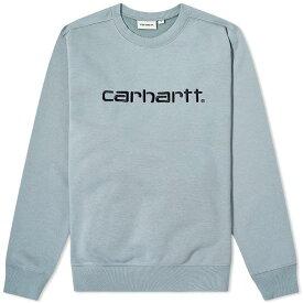 カーハート Carhartt WIP メンズ スウェット・トレーナー トップス【carhartt logo sweat】Cloudy/Black